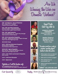 Are We Winning the War on Domestic Violence Flier October 2017